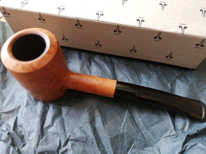 SAVINELLI RADICA GREZZA cerata lucida Tronchetto Original smoked pipe Italy