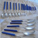 Complete table set cutlery VILLEROY & BOCH Model Blue Ocean 22 pieces Forks Knives Spoons ORIGINAL