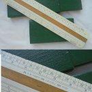 Slide ruler FABER CASTELL MODEL 2722 in wood Original from 1970s in box