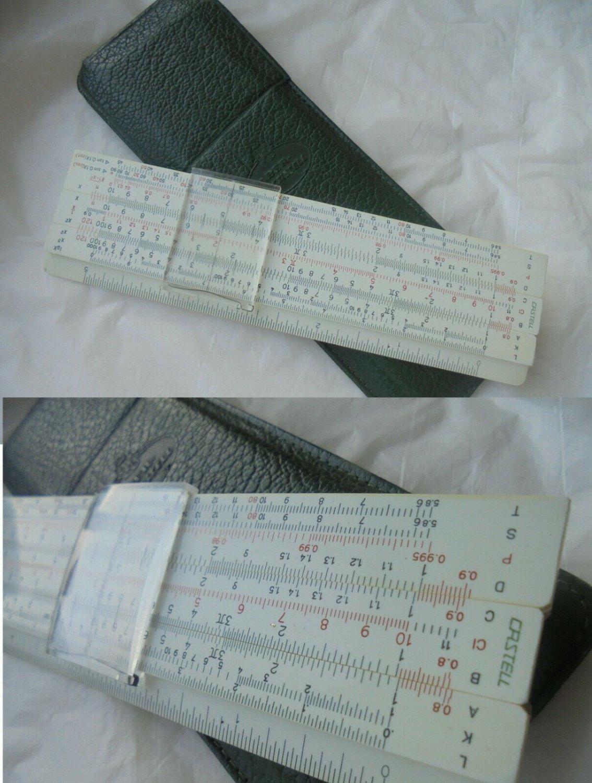 FABER CASTELL 67/54 slide ruler Original 1970s in pochette