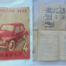 RENAULT 4 N.E. 595 instructions car manual book Original edition 1950