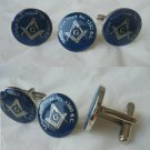 MASONIC CUFFLINKS with PIN Fish Hoek South Africa Freemasonery Original 1990s cuff links