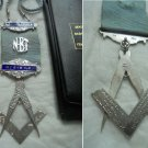 MASONIC Medal in SILVER 800 Grand Lodge of SHANNONDALE Zambia 1968 Freemasonry Original