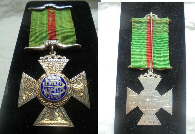 MASONIC BADGE pin in SILVER 800 Alexandra Lodge 12 England United Kingdom In box