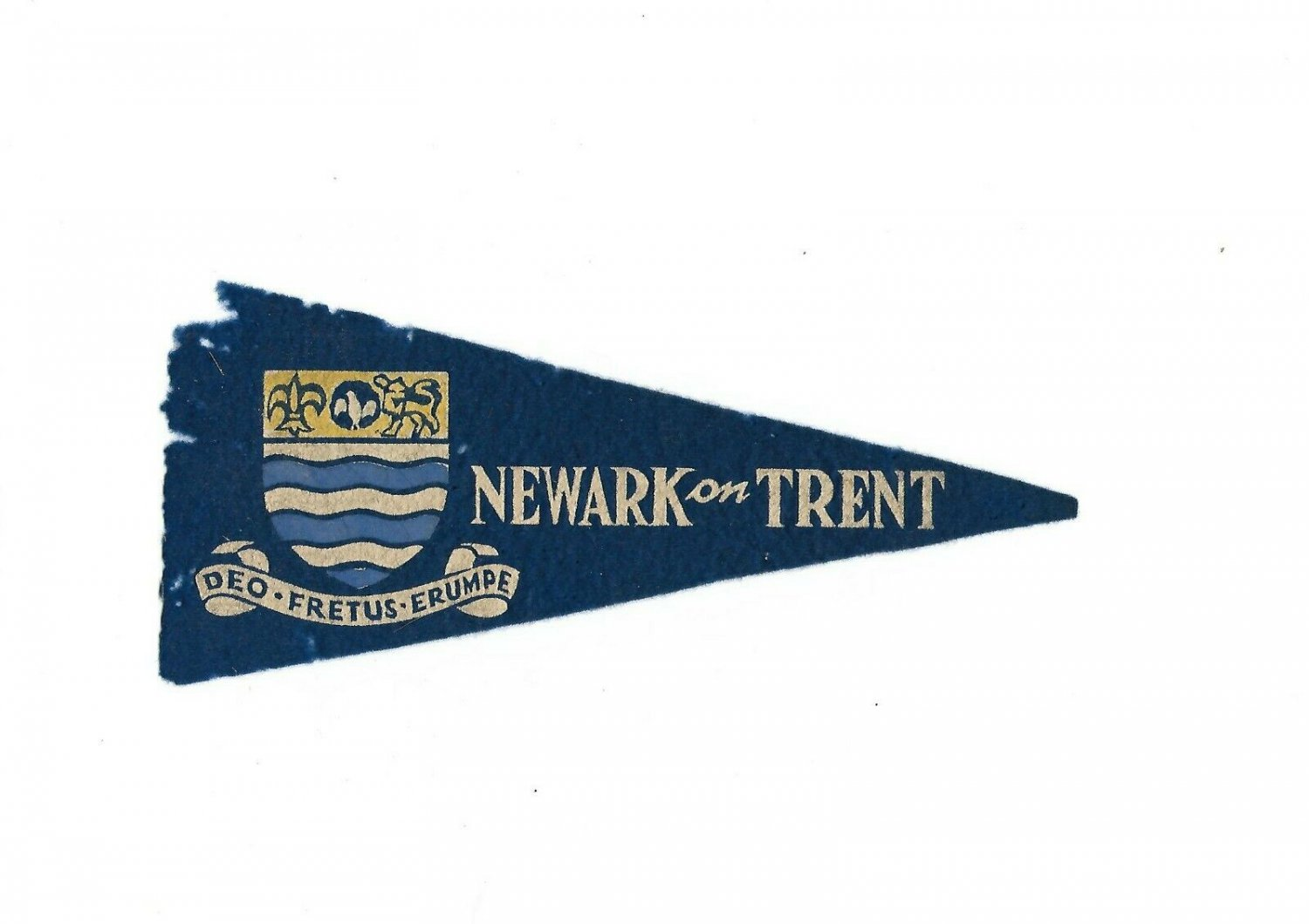 BOY SCOUTS NEWARK on Trent England Flag Pennant Original 1957
