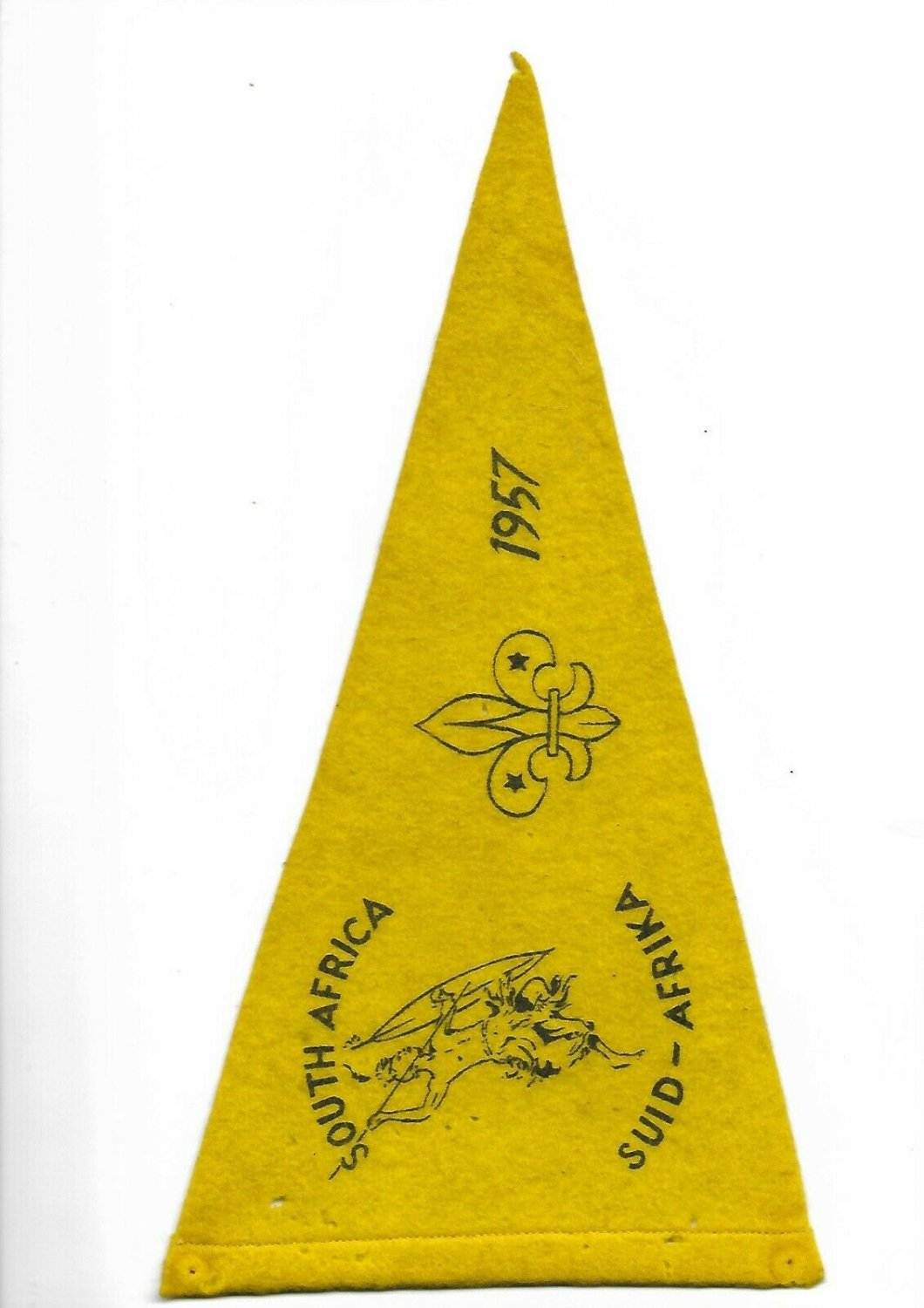 BOY SCOUTS South Africa Flag PENNANT Original 1957