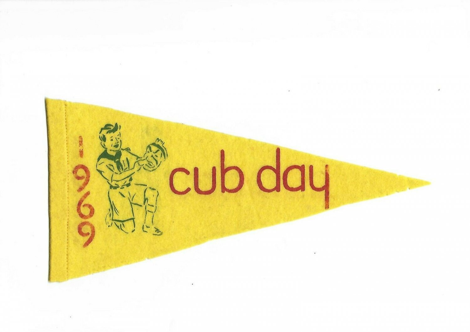 BOY SCOUTS of ENGLAND Flang Pennant Cub Day 1969 Original