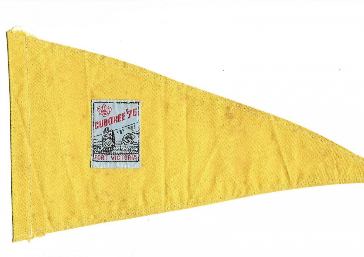 BOYS SCOUTS CANADA Alberta FLag Pennant of the Cuboree Original 1970 in Fort Victoria