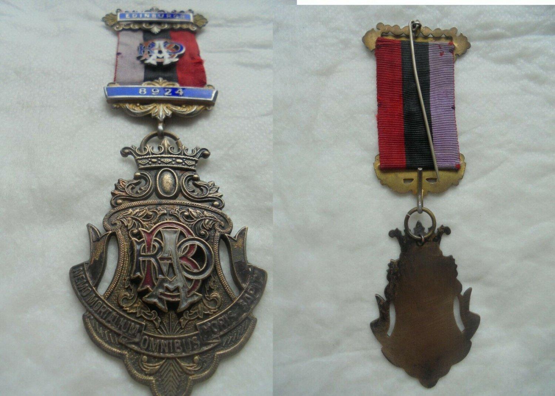 MASONIC badge pin Grand Scottish Lodge of Edimburgh Original 1980s Freemasonry