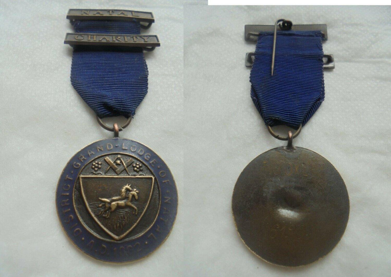 Bronze MASONIC Bardge pin Grand Lodge of Natal SOUTH AFRICA Original 1972 Freemasonry