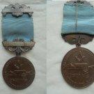 MASONIC BRONZE MEDAL pin 200th Anniversary Masonery South Africa Original 1972 Freemasonry
