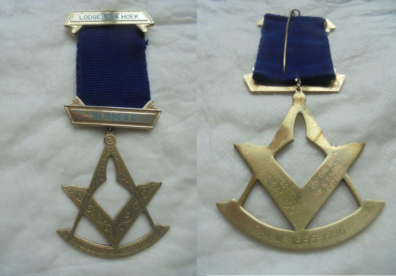 MASONIC BADGE PIN Grand Scottish Lodge of Fish Hoek Western Cape South Africa Original 1990