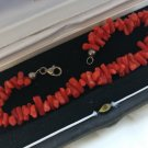 Mediterranean CORAL BRACELET and in SILVER sterling 925 Original in box Made in Italy 1960s