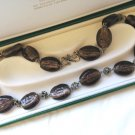 MURANO NECKLACE in glass and SILVER sterling 925 Original Made in Italy 1970s