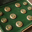 12 BUTTONS set for the Italian Navy Marines soldiers Original in gift box 1960s Made in Italy