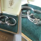 GUCCI HOOP EARRINGS Original in sterling silver 925 In gift box Made in Italy
