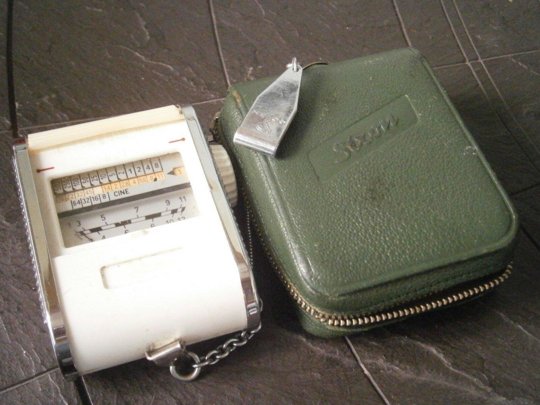 SIXON WEST GERMANY exposure calculator light meter Original working 1950s