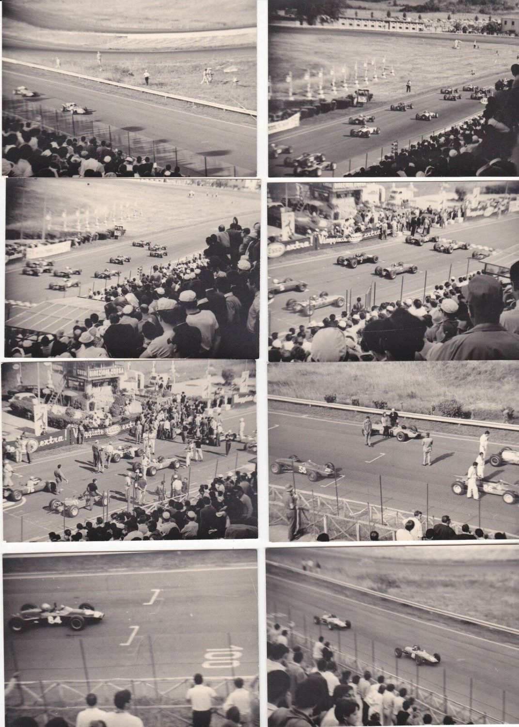 26 original PHOTOGRAPHS pictures Black & white F1 FORMULA 1 photos from 1956 with Fangio and FERRARI