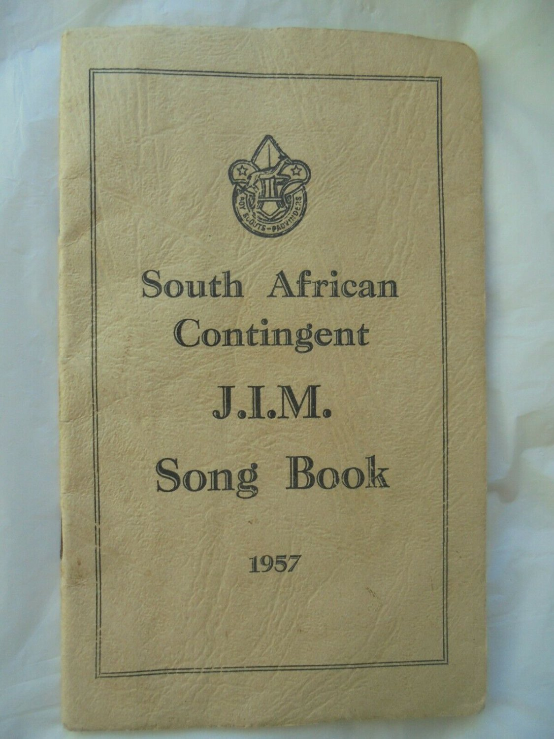 BOY SCOUTS South Africa Contingent JAMBOREE song book Original 1957