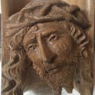 """SCULPTURE IN WOOD """" Face of God """" Val di Fassa Made in Italy handcarved original 1960s"""
