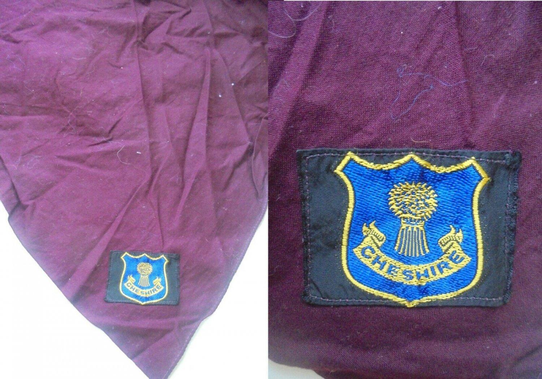 BOY SCOUTS of CHESHIRE Liverpool United Kigdom original hanky Handkerchief 1960s