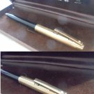 SHEAFFER REMINDER CLIP ball point pen black and gold filled 12K G.F. Original in gift box 1960s