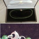 BRACCIALINI Jewels Made in Italy real JADE NECKLACE and silver 925 Originale in gift box