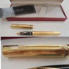SHEAFFER TARGA fountain pen GOLD electroplated and gold 14K Original in gift box