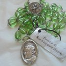 John Melchior Bosco DON BOSCO ROSARY with beads in green color Original
