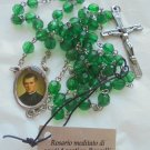 SAINT AGOSTINO ROSCELLI Praying rosary with green beads Original New