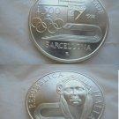 OLYMPIC GAMES BARCELONA 1992 Italian coin in silver 925 Lire 500 Original