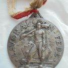 Italian medal in silver 800 LAVORAI con FEDE MONTECATINI 1940 Engraved by Morbiducci