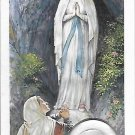 SACRED IMMAGE of The Vergin Mary with reliquary relic of the water of LOURDES Original