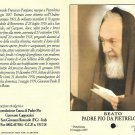 Relic Ex INDUMENDIS of PADRE PIO from Pietralcina Italy 1971