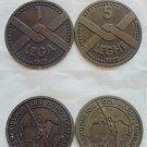 REPUBBLICA PADANA Republic ITALY 2 rare bronze coins Lega 1 Leghe 5