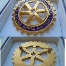 ROTARY INTERNATIONAL Club Roma Italy pin brooch Original by Johnson Milano
