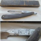 BARBER RAZOR made by James Palow & Sons Model ECHO with handle in horn In box Original 1940s