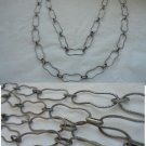 LONG NECKLACE in SILVER 800 oval loops Original in gift box