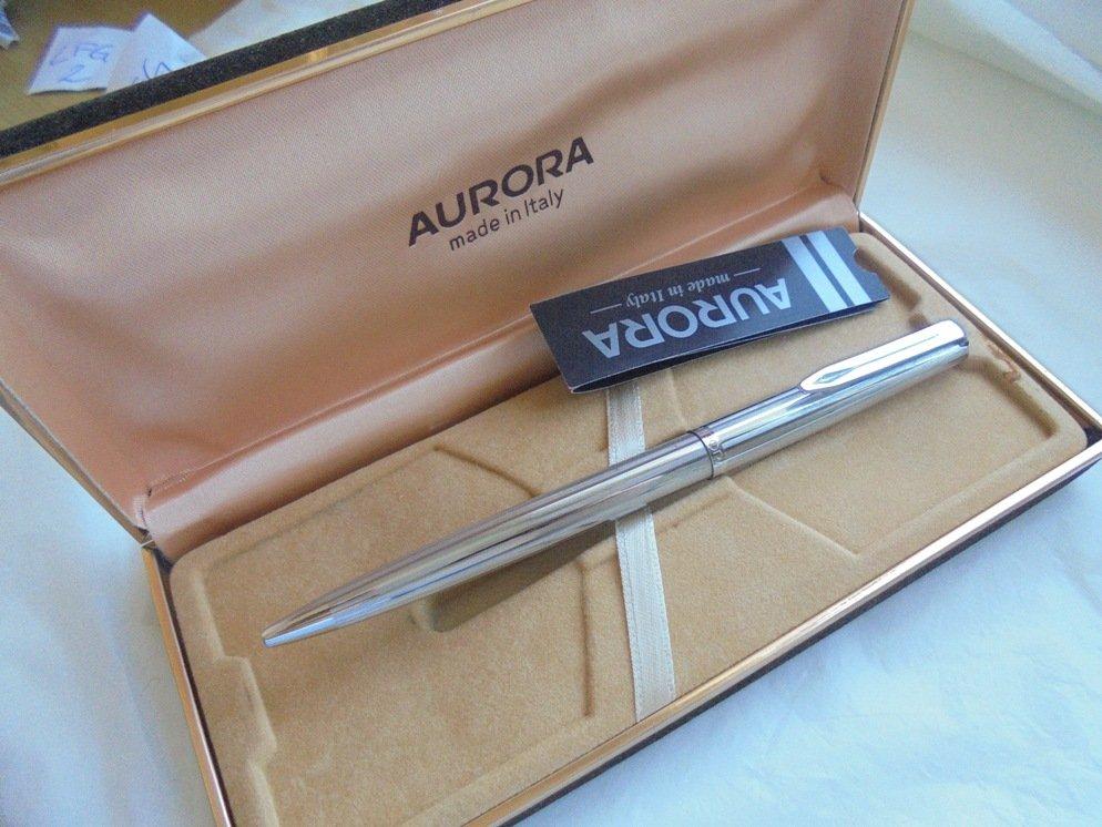 AURORA 98 ball point PEN in steel Original in gift box