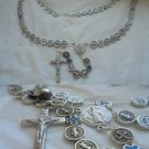 Praying ROSARY necklace of SAINT BENEDICT of Nursia in metal lacquè Original