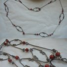 Vintage NECKLACE in silver 800 and Mediterranean CORAL ORIGINAL 1960s In gift box