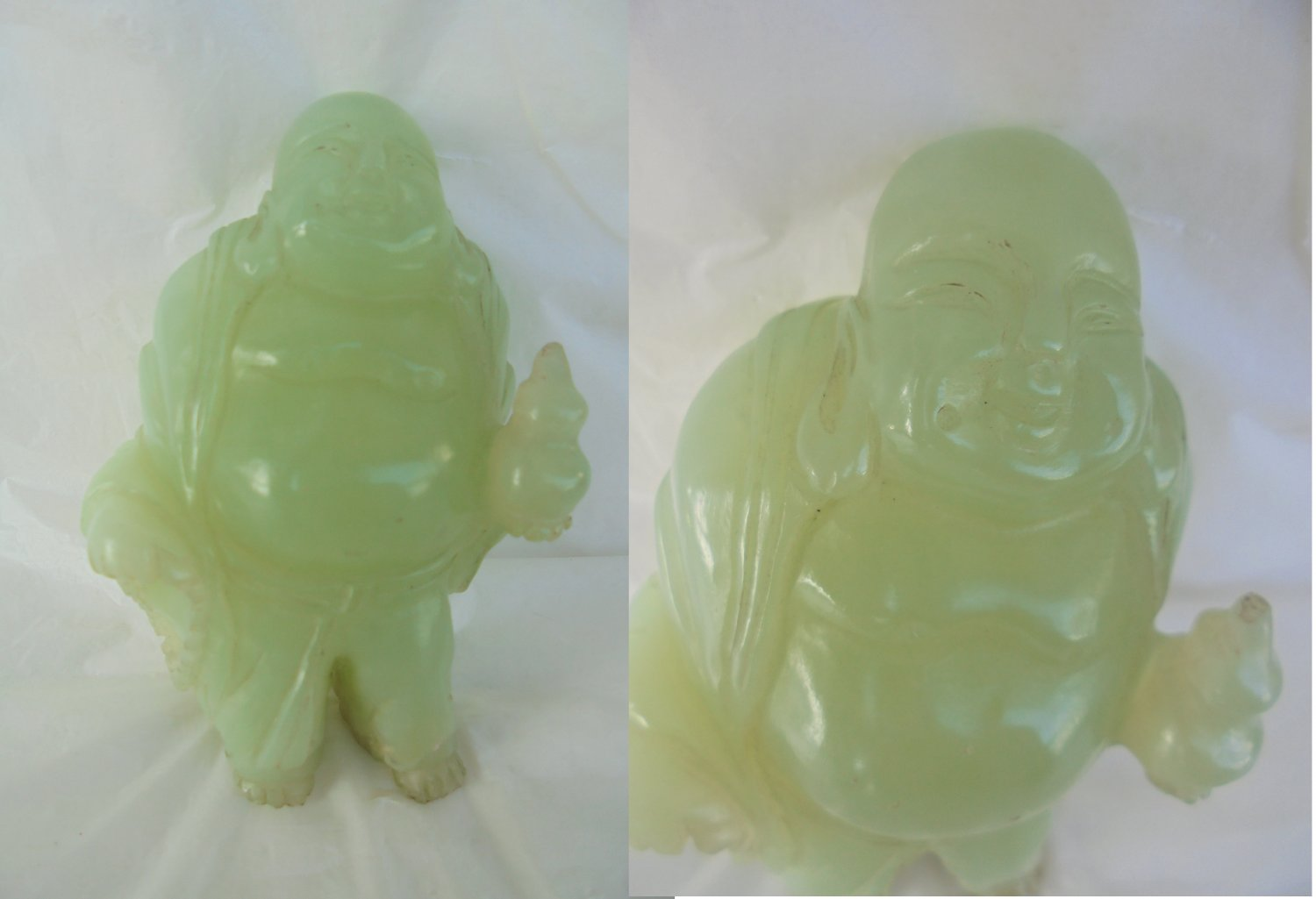 STANDING BUDDHA sculpture in JADE Original from 1970s