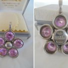 ILARIO Made in Italy Pendent in sterling SILVER 925 and SWAROVSKI crystals In gift box