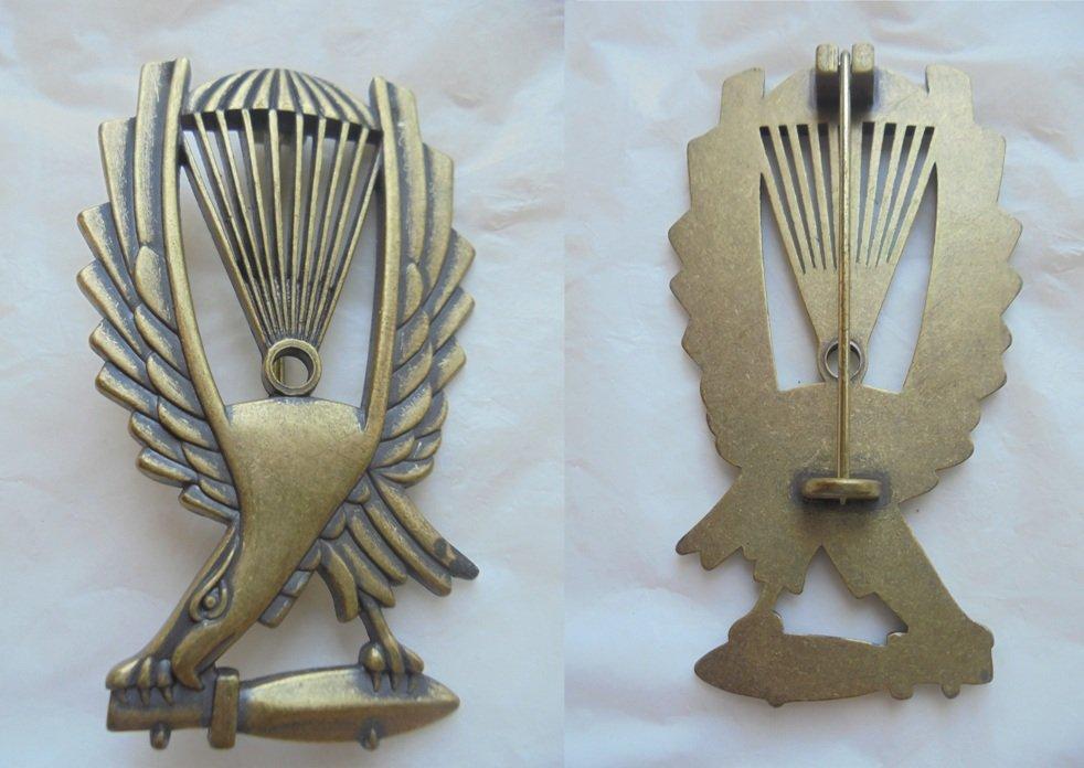 Original PIN ITALIAN MILITARY Parachute army in brass Reggimento San Marco Italia