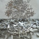100 CRUCIFIX CROSS pendents charm in metal Made in Italy for necklace bracelet rosary