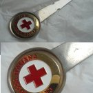 ITALIAN RED CROSS paper cutter letter opener in metal and lacque
