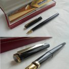 SHEAFFER SAILOR fountain pen in steel lacque in black color Original in gift box + garantee