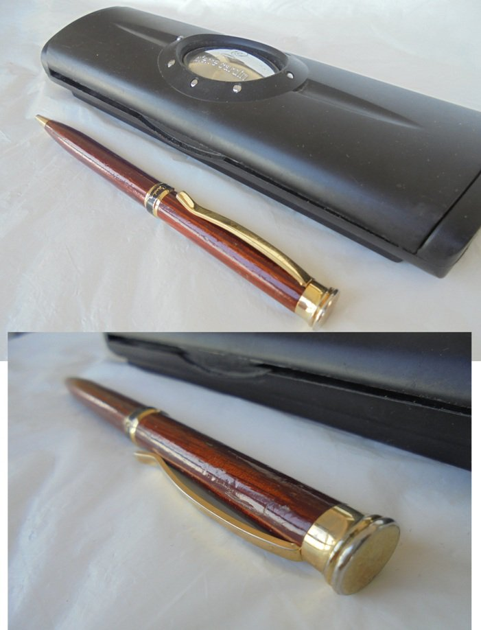 PIERRE CARDIN ball pen wood effect Original in gift box