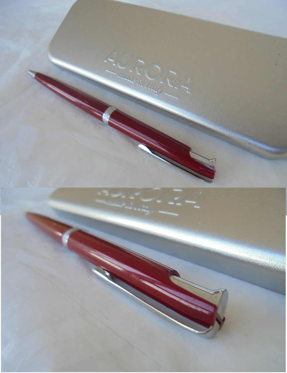 AURORA SELE ball pen in red resin Original Made in italy In gift box