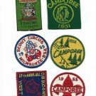 6 BOY SCOUTS Crest patches in cloth JAMBOREE 1951-1956